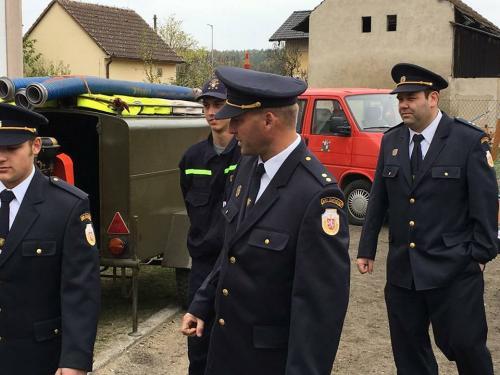 Výročí 100let české státnosti auctění památky padlým hasičům 1